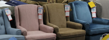 wingback chairs in various colors
