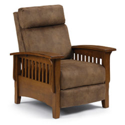 best home furnishings chair with wooden armrests