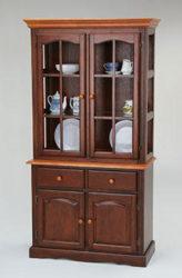 amesbury chair hutch - brown