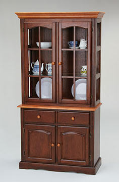amesbury chair hutch - brown