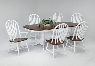 Amesbury Chair dining set - white