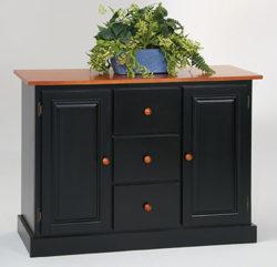 Amesbury chair credenza - black