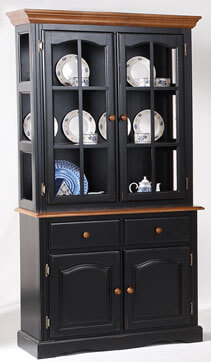 amesbury chair hutch - black