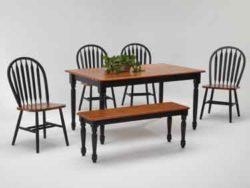 amesbury chair dining set - table, chairs, and bench