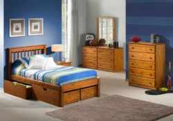 Innovations Laguna platform bed in pecan