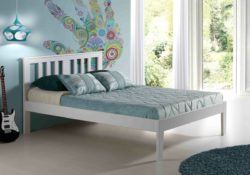 Innovations Milan platform bed in white
