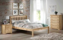 Amesbury Chair Mission platform bed in bedroom