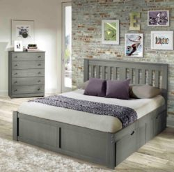 Innovations york platform bed in grey