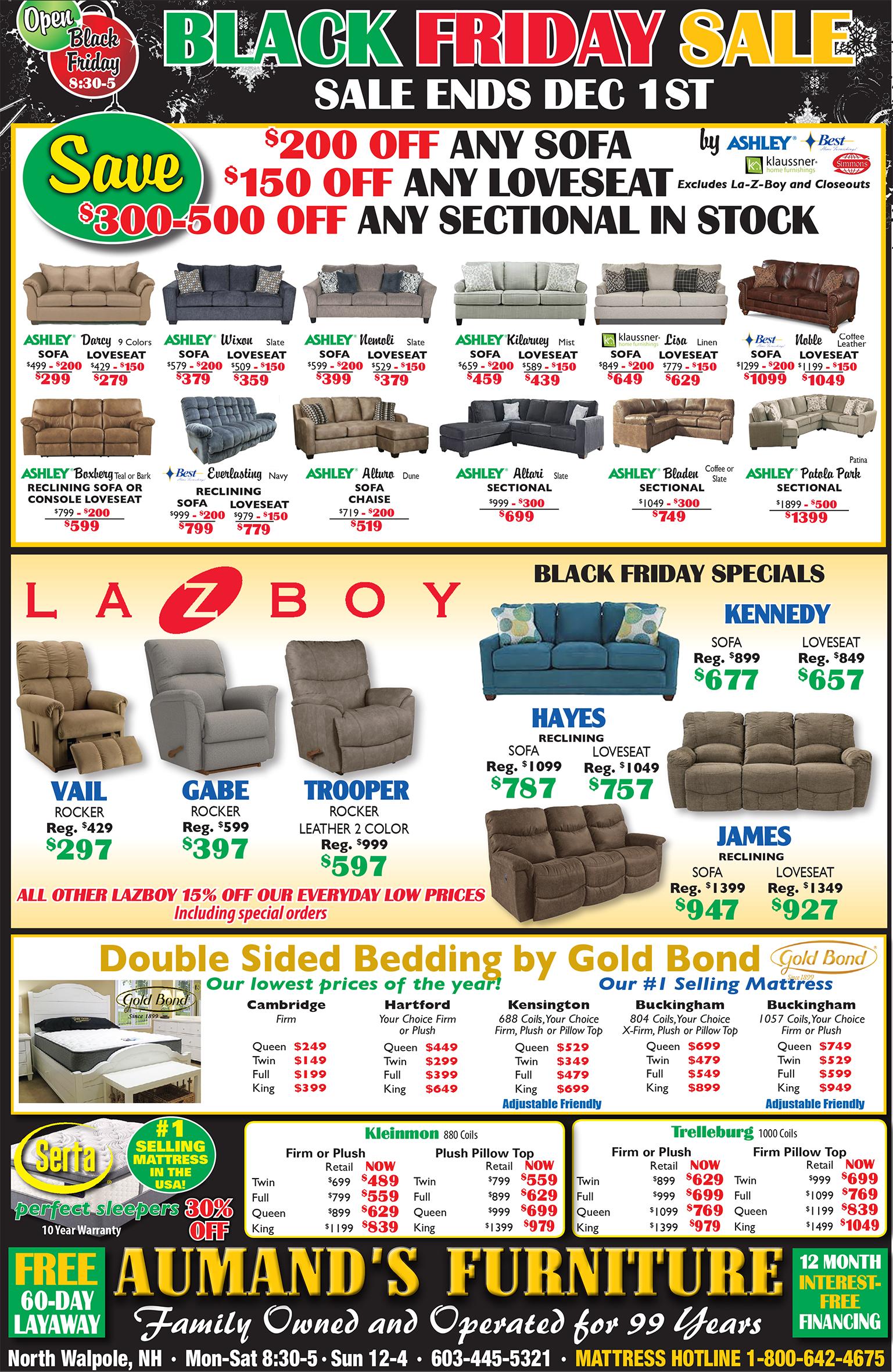 Black Friday Specials Aumand S Furniture